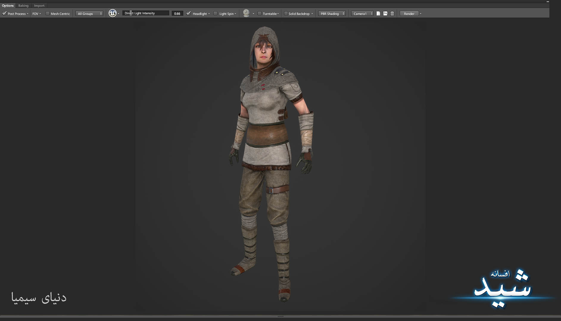 Legend of the light_Archer Character Texturing_Hadi Beheshti CG Artist Game Designer-3