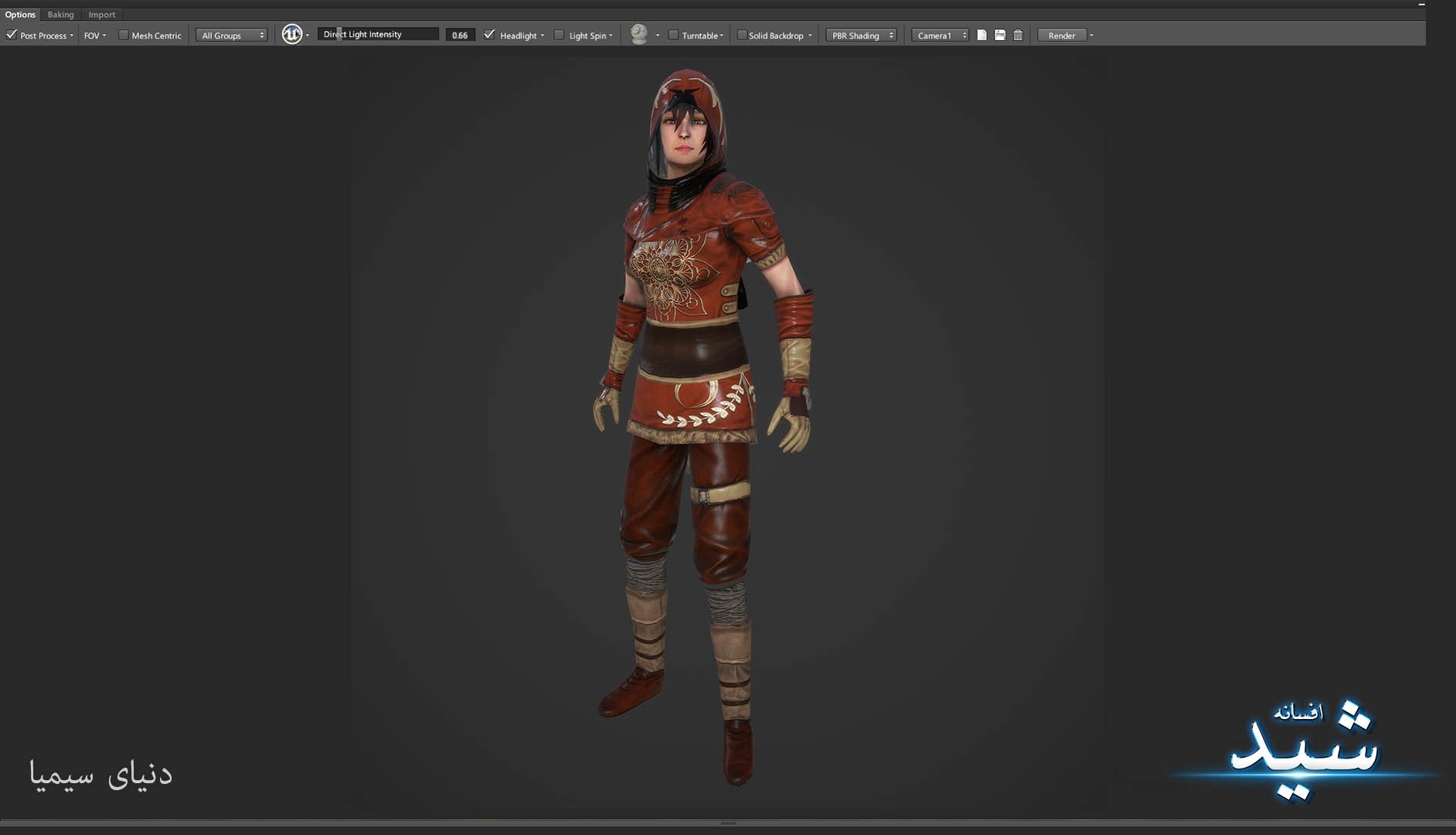Legend of the light_Archer Character Texturing_Hadi Beheshti CG Artist Game Designer-4