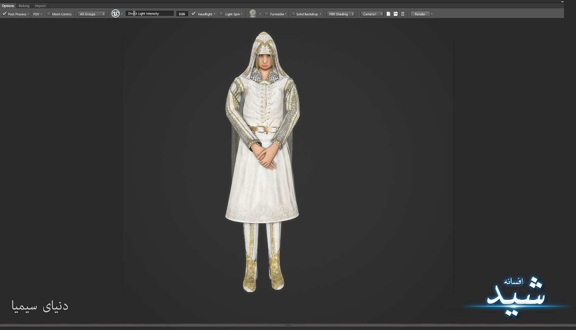 Legend of the light_Healer Character Texturing_Hadi Beheshti CG Artist Game Designer-2