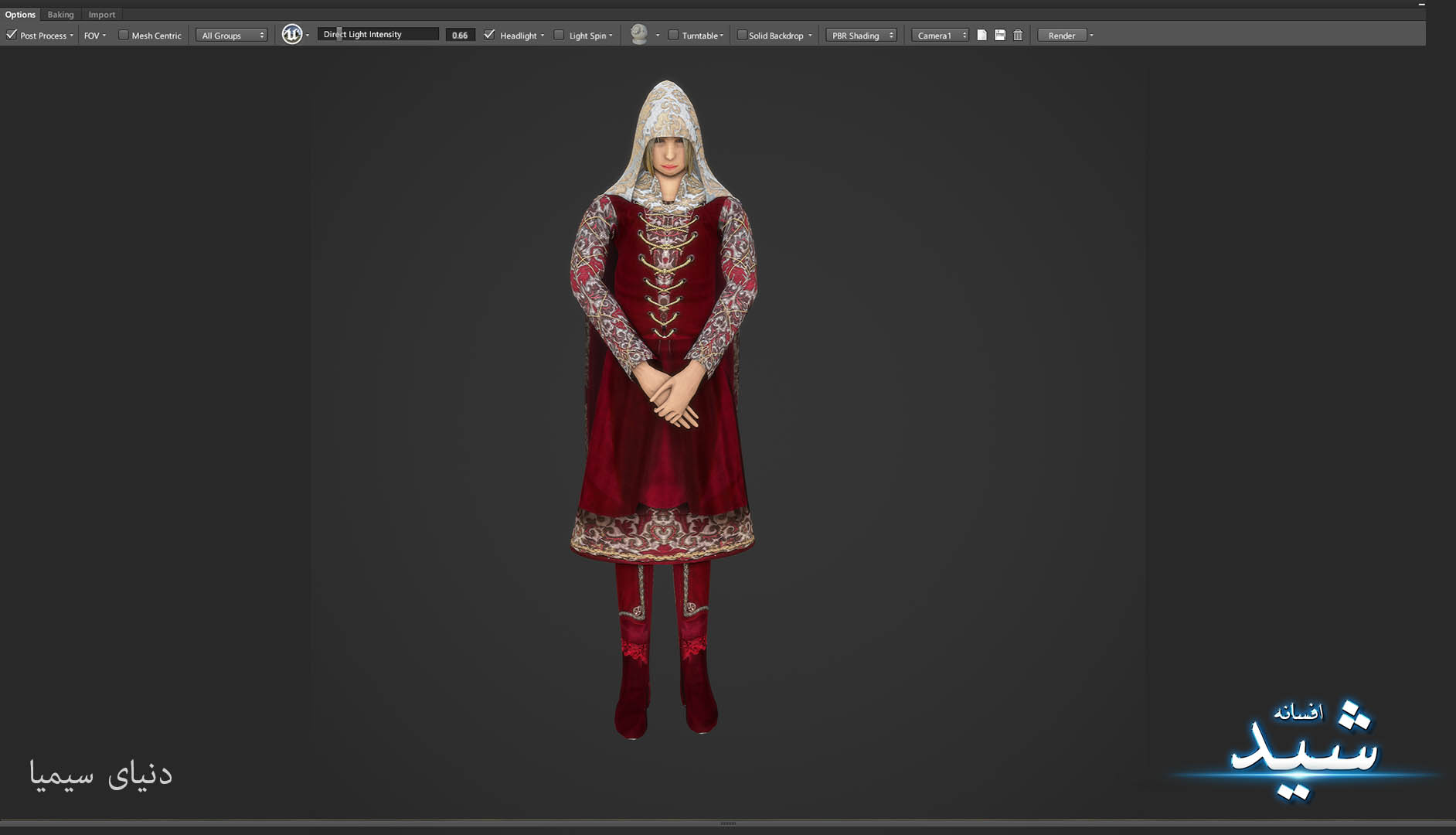 Legend of the light_Healer Character Texturing_Hadi Beheshti CG Artist Game Designer-3