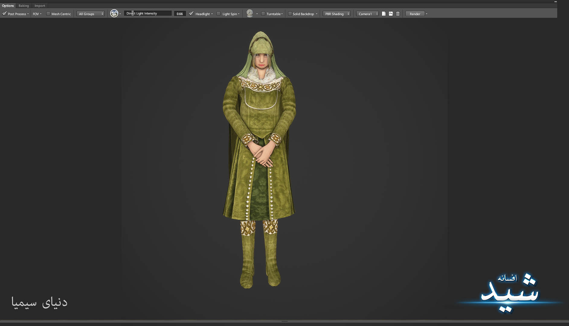 Legend of the light_Healer Character Texturing_Hadi Beheshti CG Artist Game Designer