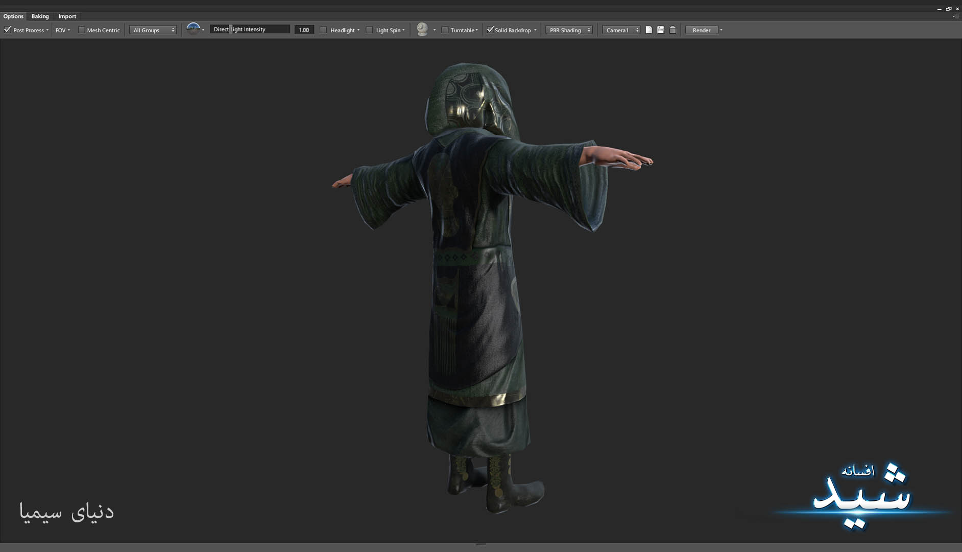 Legend of the light_Witcher Character Texturing_Hadi Beheshti CG Artist Game Designer-3