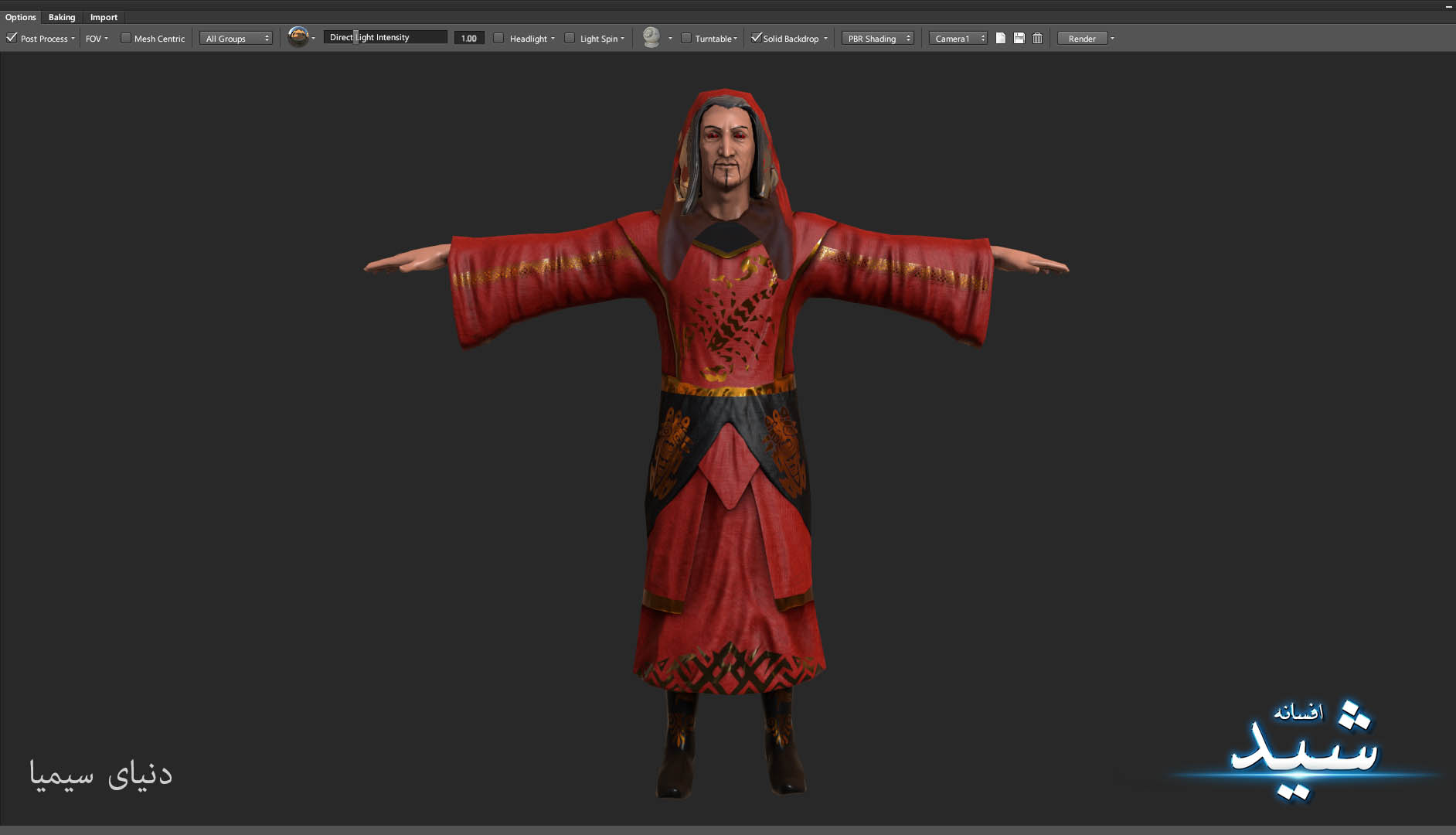 Legend of the light_Witcher Character Texturing_Hadi Beheshti CG Artist Game Designer-5