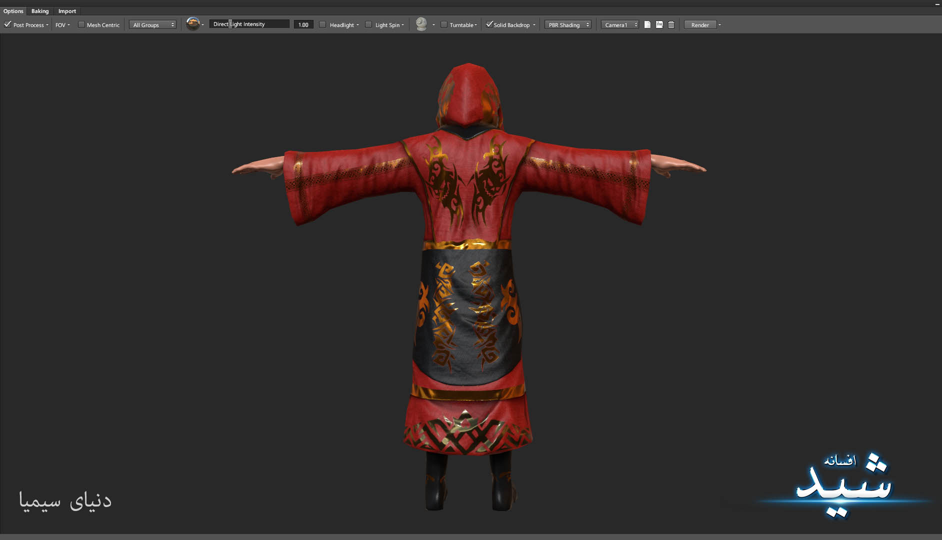 Legend of the light_Witcher Character Texturing_Hadi Beheshti CG Artist Game Designer-6