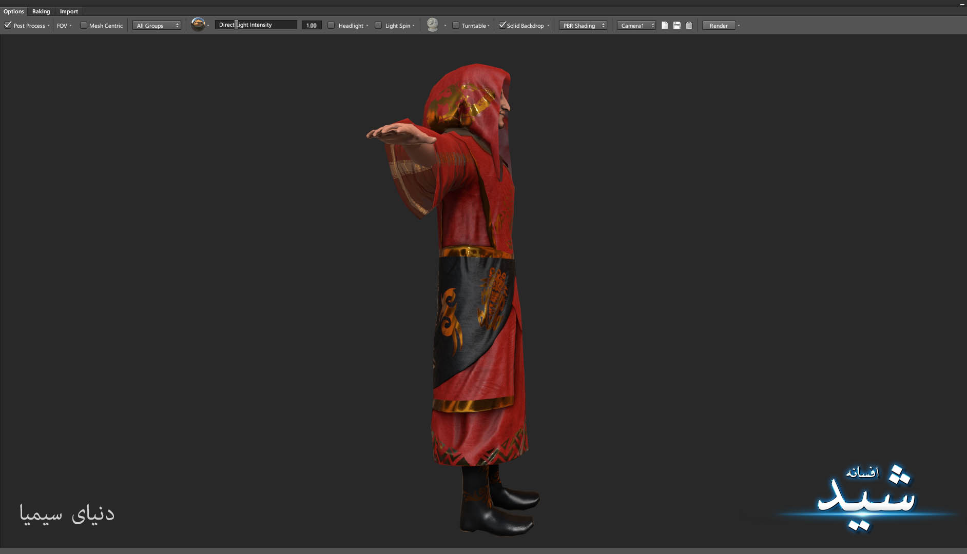 Legend of the light_Witcher Character Texturing_Hadi Beheshti CG Artist Game Designer-7