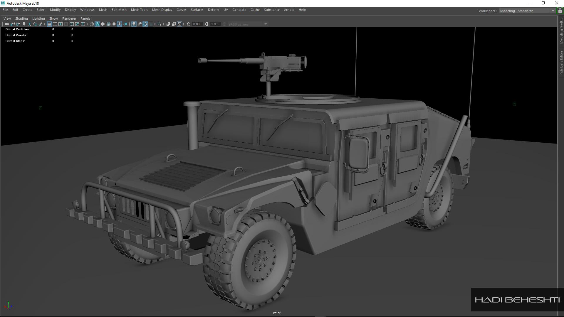 3d Modeling-Humvee_PS_1_Hadi Beheshti CG Artist