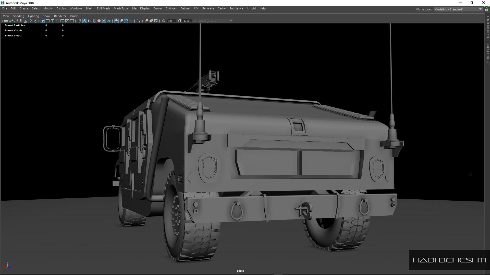 3d Modeling-Humvee_PS_2_Hadi Beheshti CG Artist