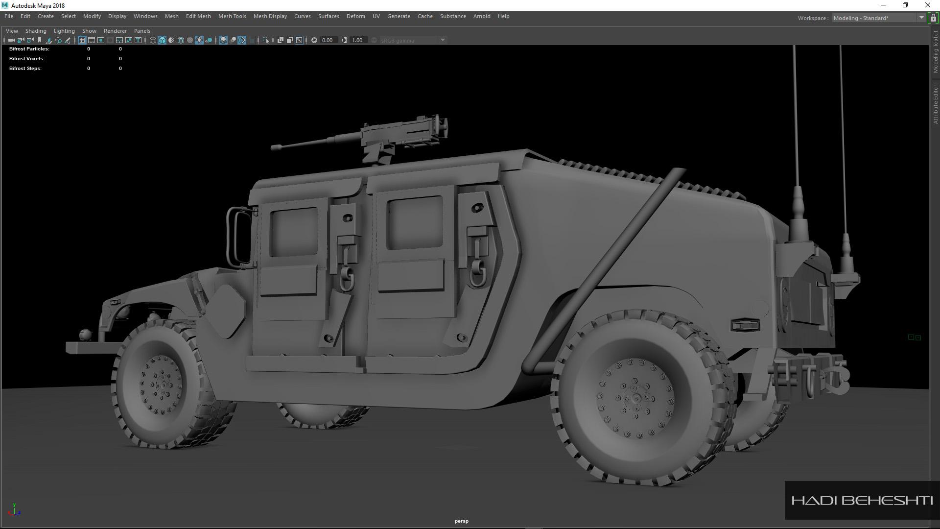 3d Modeling-Humvee_PS_3_Hadi Beheshti CG Artist