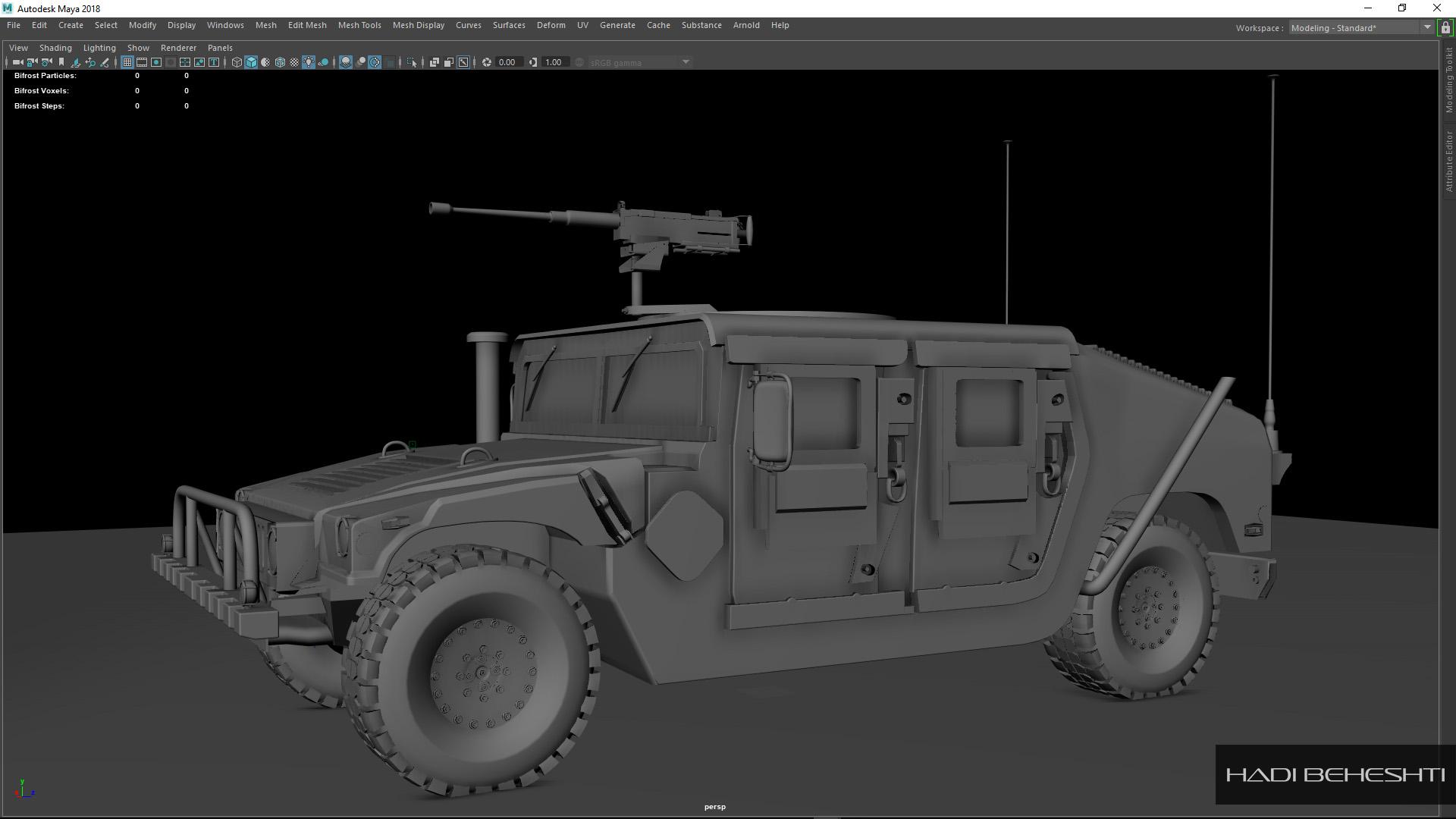 3d Modeling-Humvee_PS_4_Hadi Beheshti CG Artist