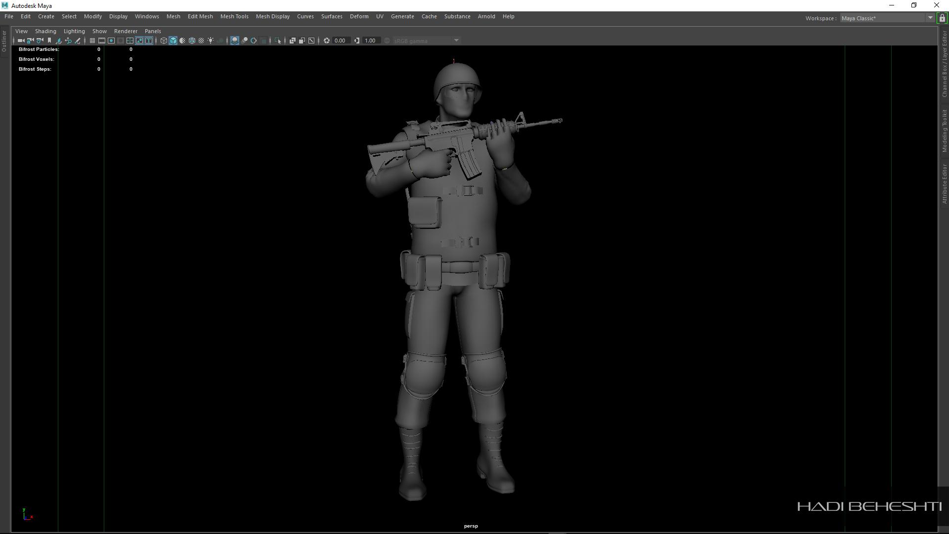 3d Modeling-Texturing-Soldier_PS_Hadi Beheshti CG Artist_12
