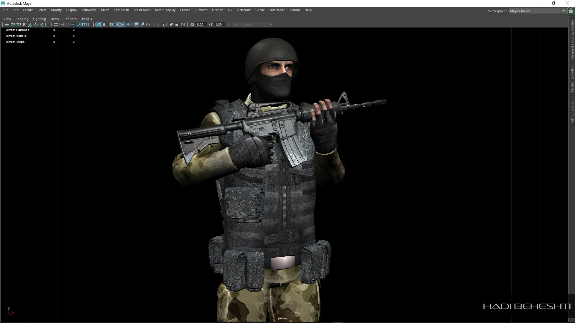 3d Modeling-Texturing-Soldier_PS_Hadi Beheshti CG Artist_2