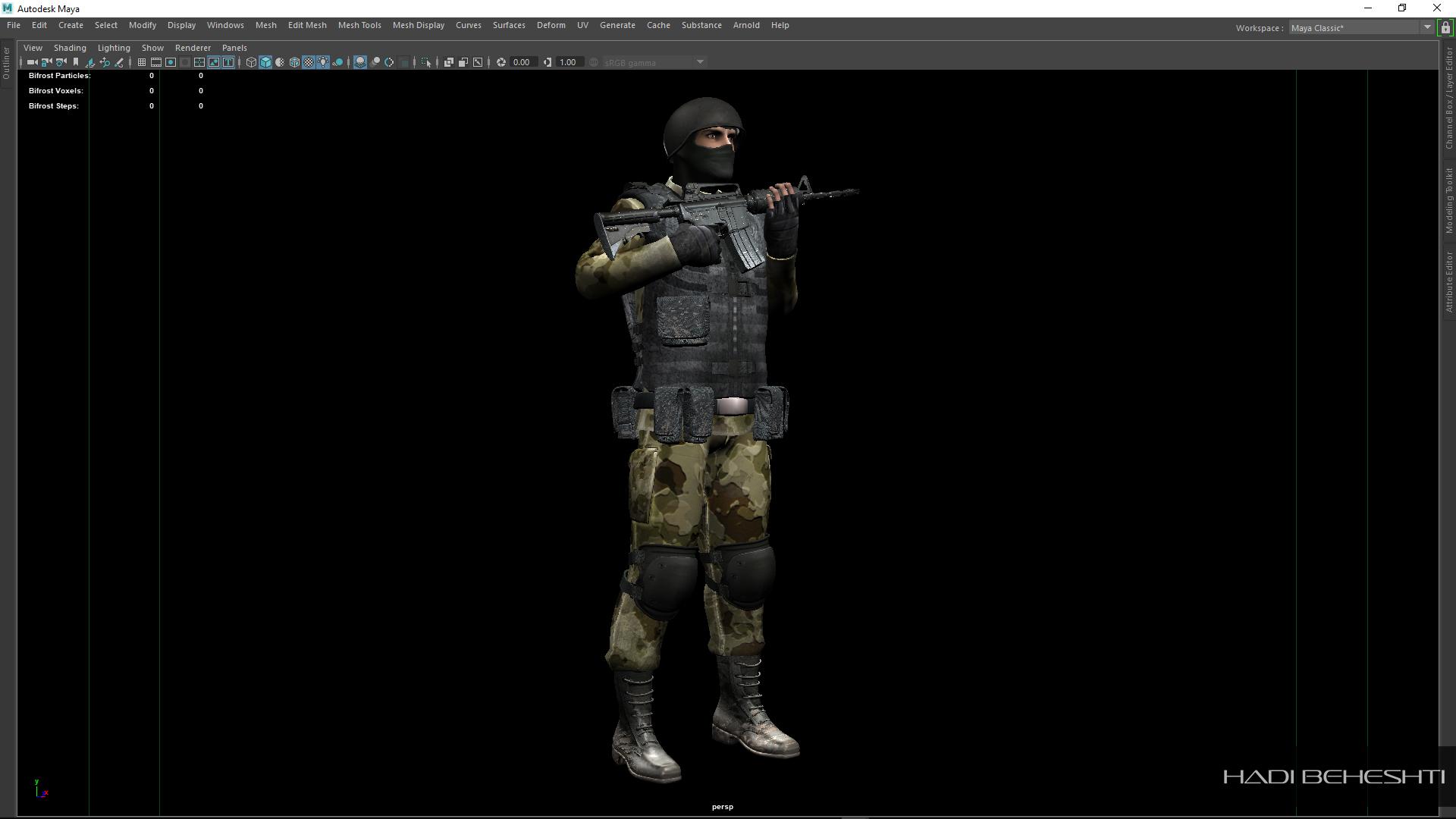 3d Modeling-Texturing-Soldier_PS_Hadi Beheshti CG Artist_8