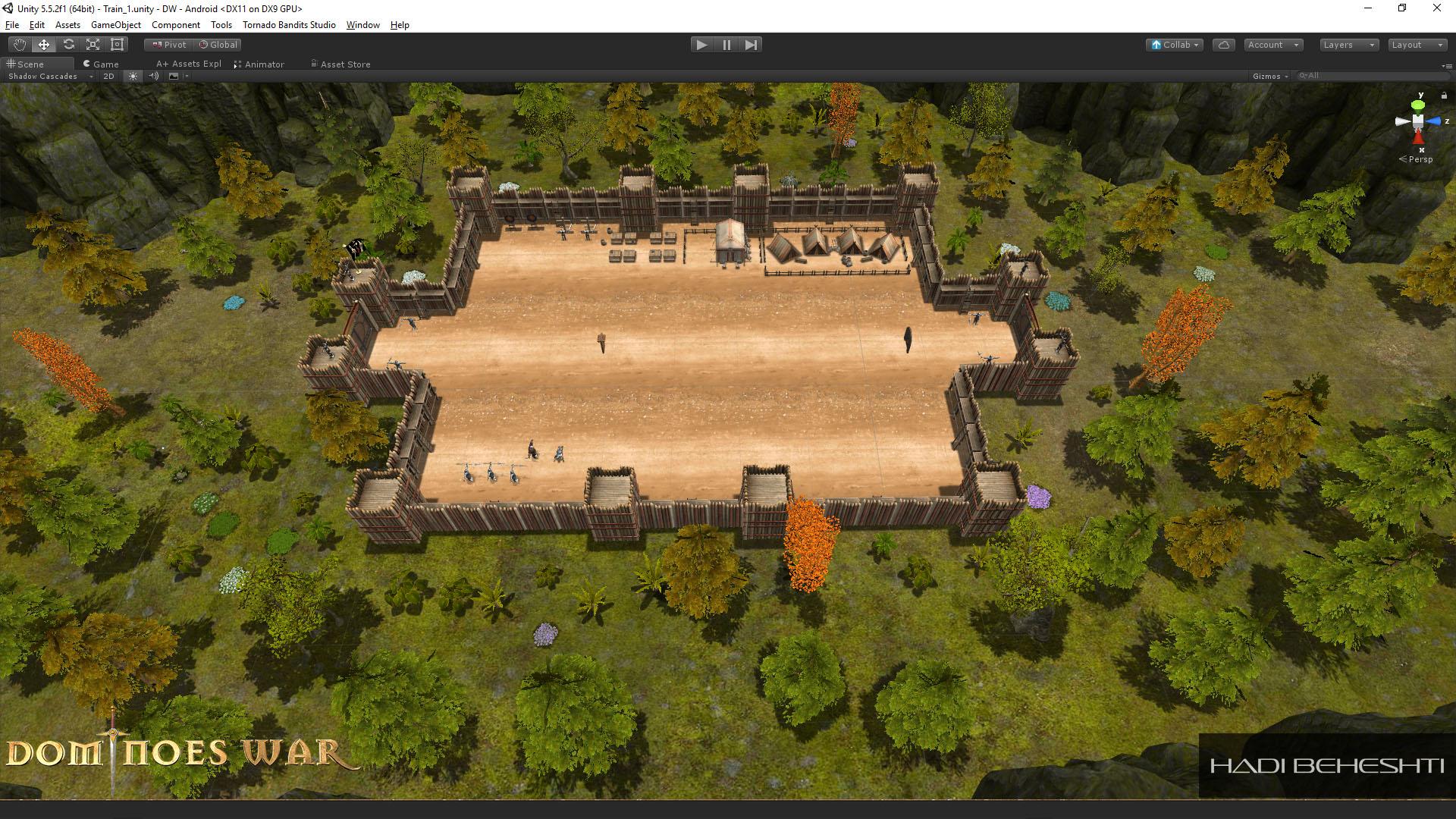 Dominoes War Game Garrison Scene Hadi Beheshti CG Artist-1