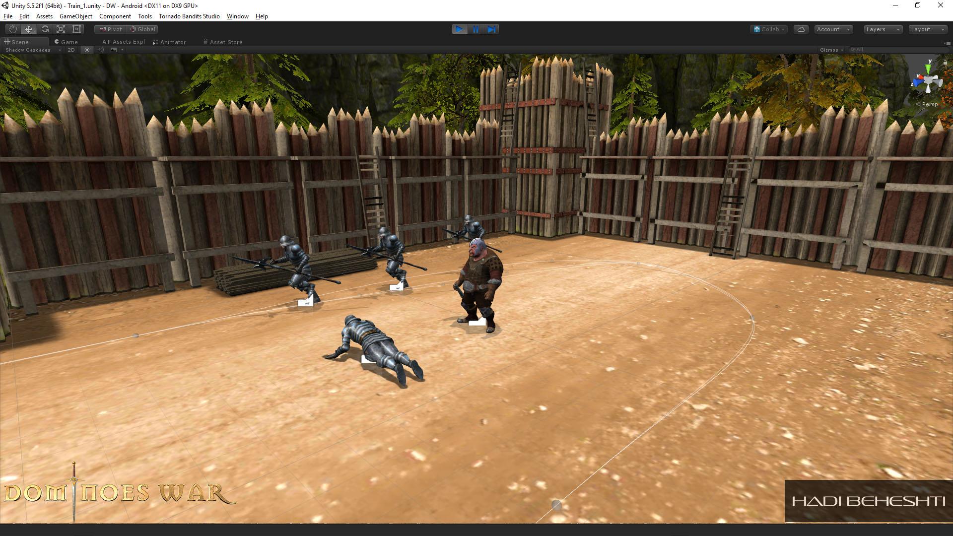 Dominoes War Game Garrison Scene Hadi Beheshti CG Artist-11