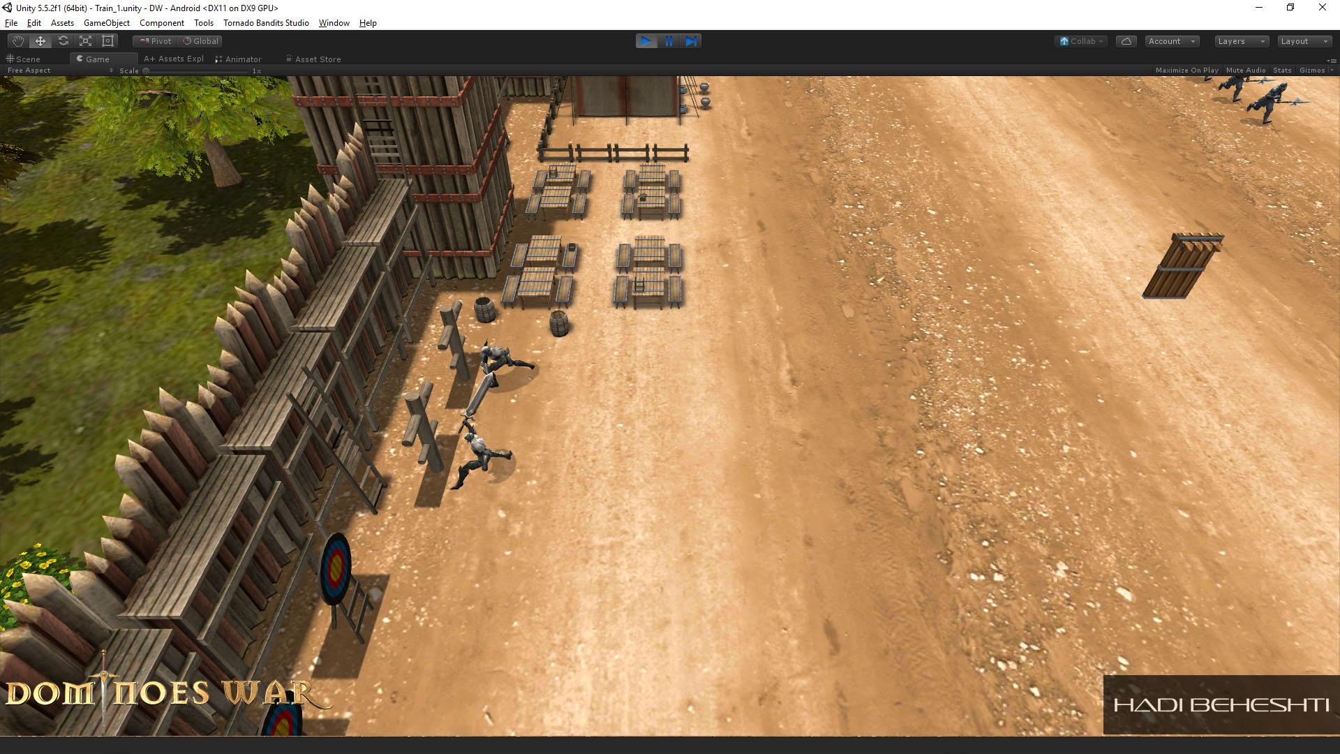 Dominoes War Game Garrison Scene Hadi Beheshti CG Artist-12