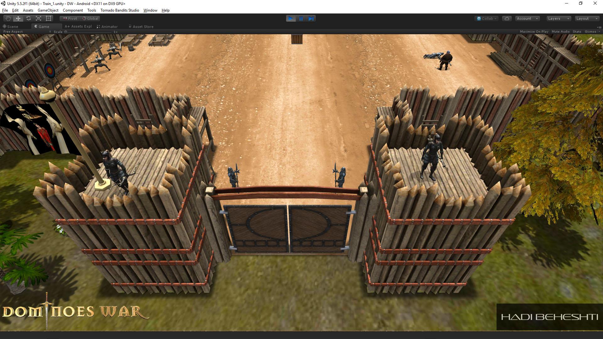 Dominoes War Game Garrison Scene Hadi Beheshti CG Artist-13