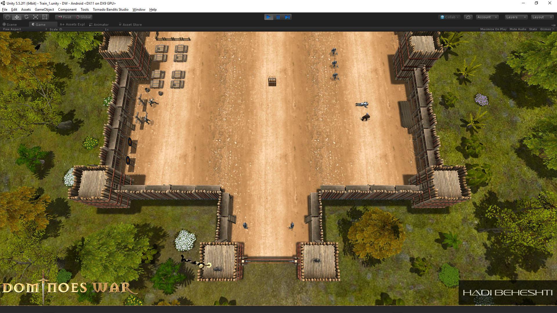 Dominoes War Game Garrison Scene Hadi Beheshti CG Artist-2