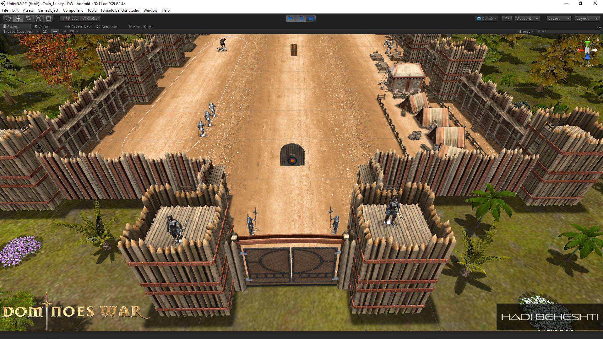 Dominoes War Game Garrison Scene Hadi Beheshti CG Artist-3