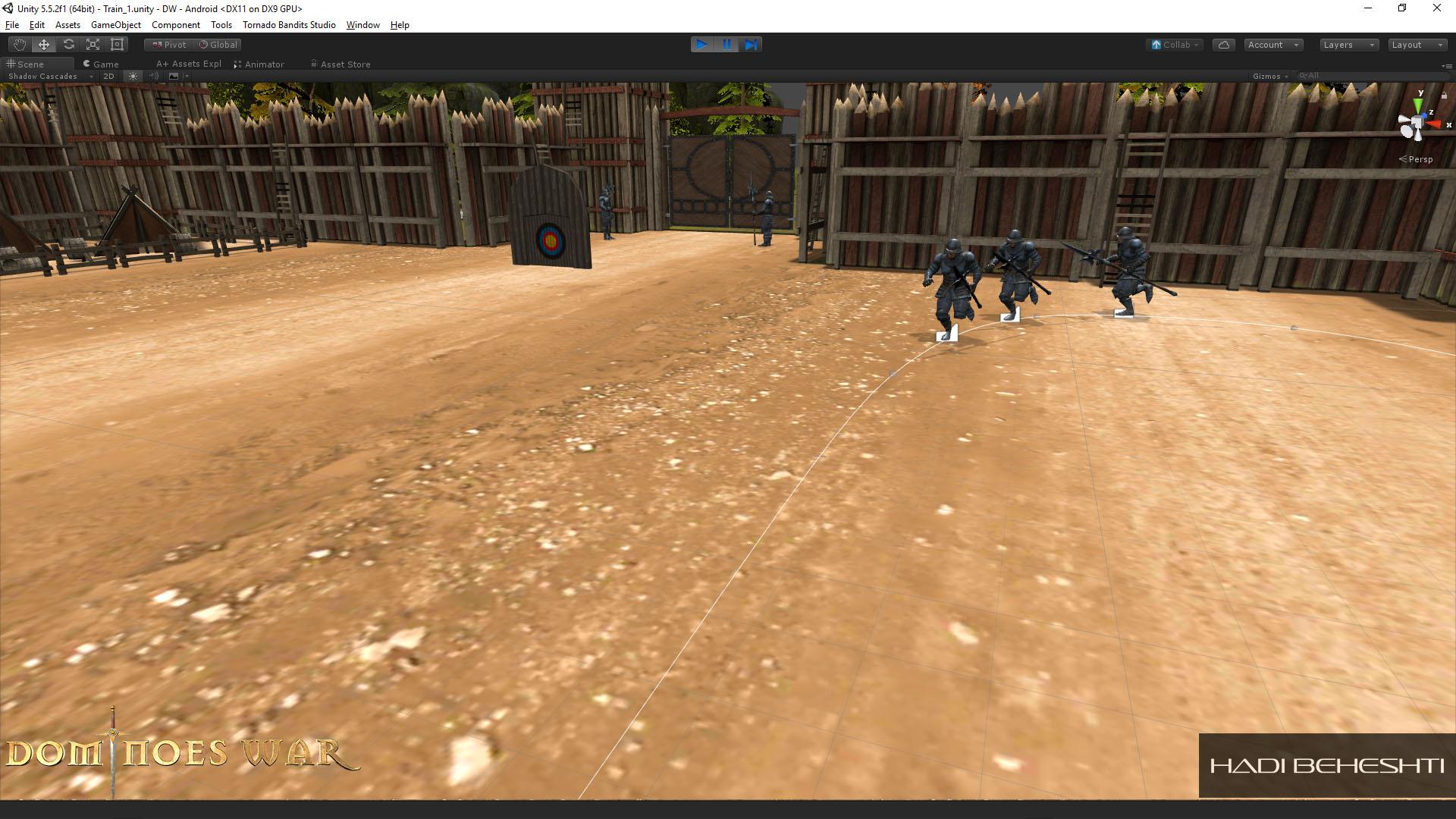 Dominoes War Game Garrison Scene Hadi Beheshti CG Artist-4