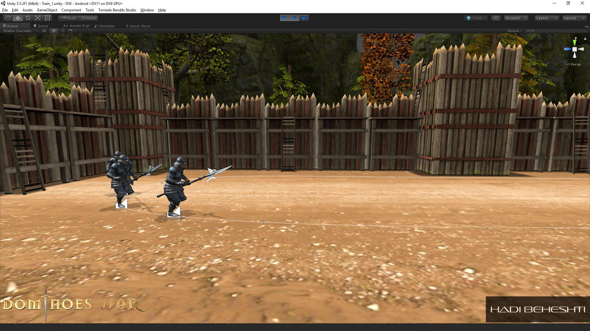 Dominoes War Game Garrison Scene Hadi Beheshti CG Artist-5
