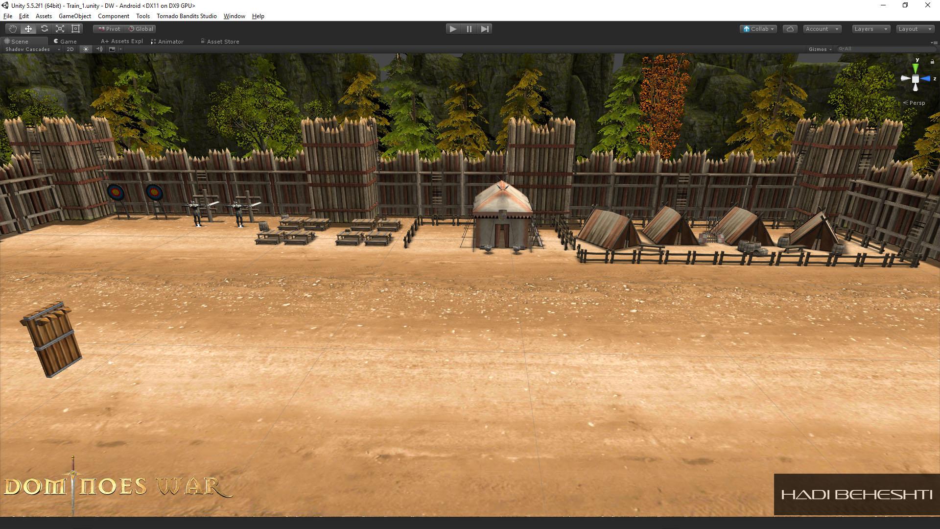 Dominoes War Game Garrison Scene Hadi Beheshti CG Artist-7