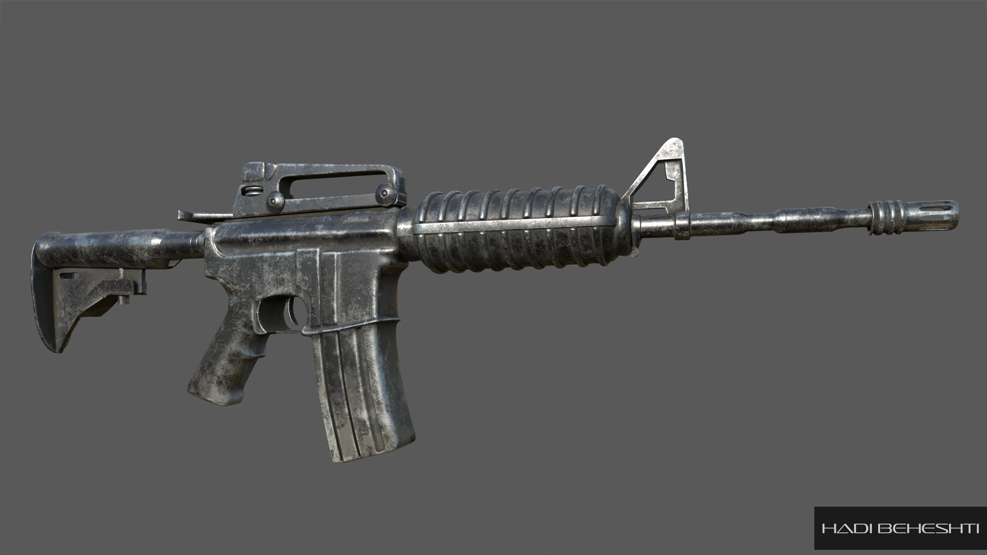 M4A1 Carbine_Modeling and Texturing by Hadi Beheshti-CG Artist-1