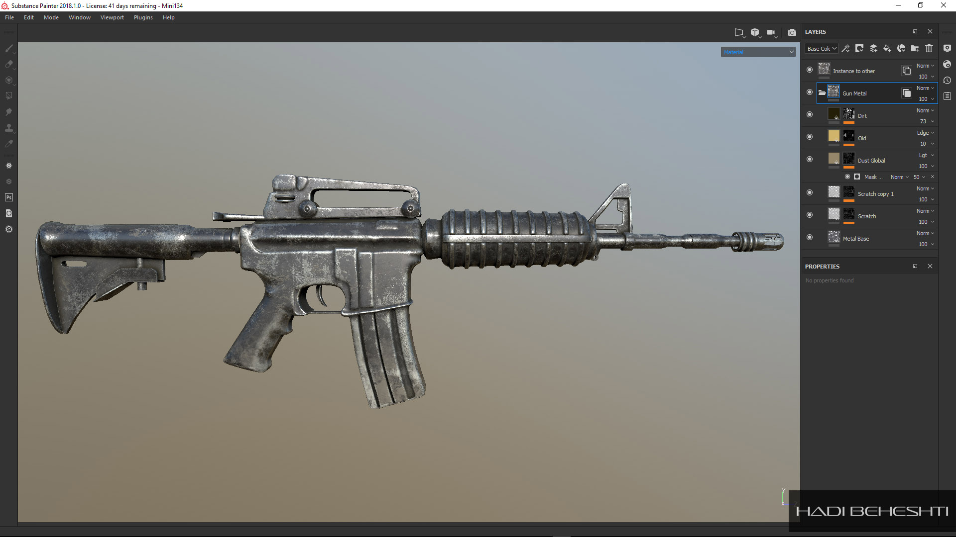 M4A1 Carbine_Modeling and Texturing by Hadi Beheshti-CG Artist-3