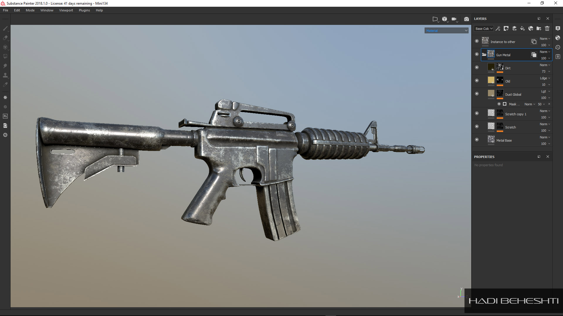 M4A1 Carbine_Modeling and Texturing by Hadi Beheshti-CG Artist-7