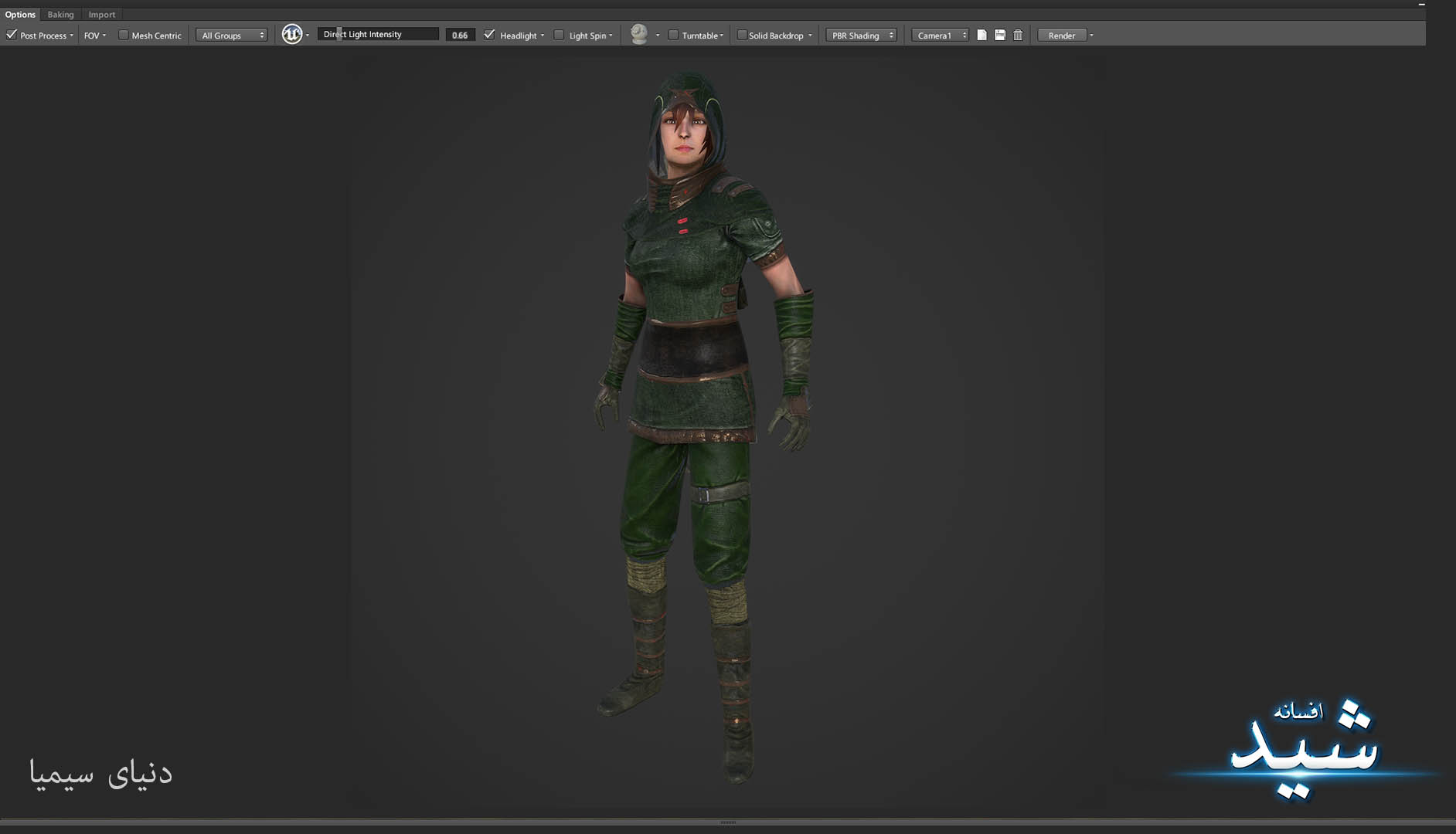 Legend of the light_Archer Character Texturing_Hadi Beheshti CG Artist Game Designer