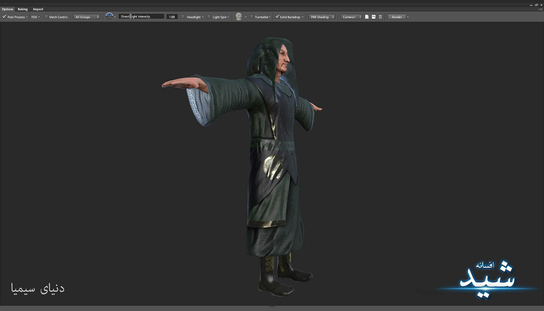 Legend of the light_Witcher Character Texturing_Hadi Beheshti CG Artist Game Designer