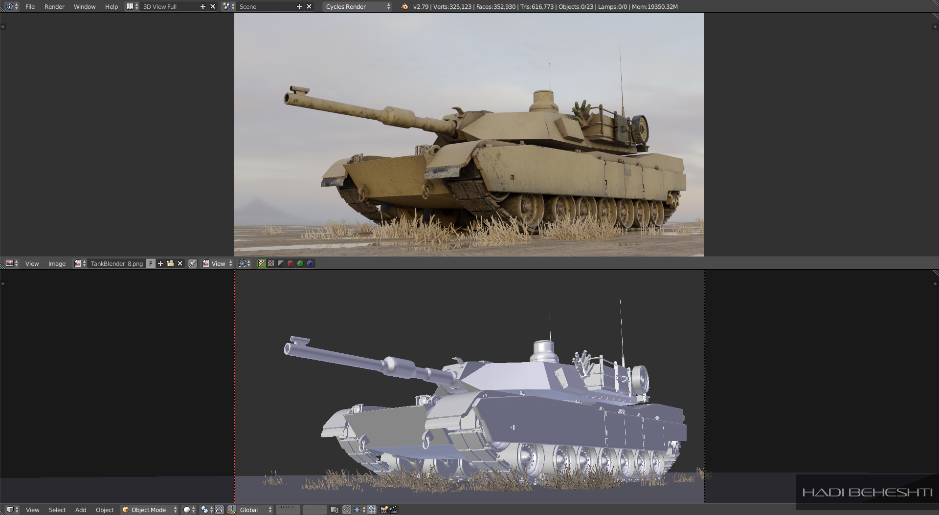 Tank Model by Hadi Beheshti