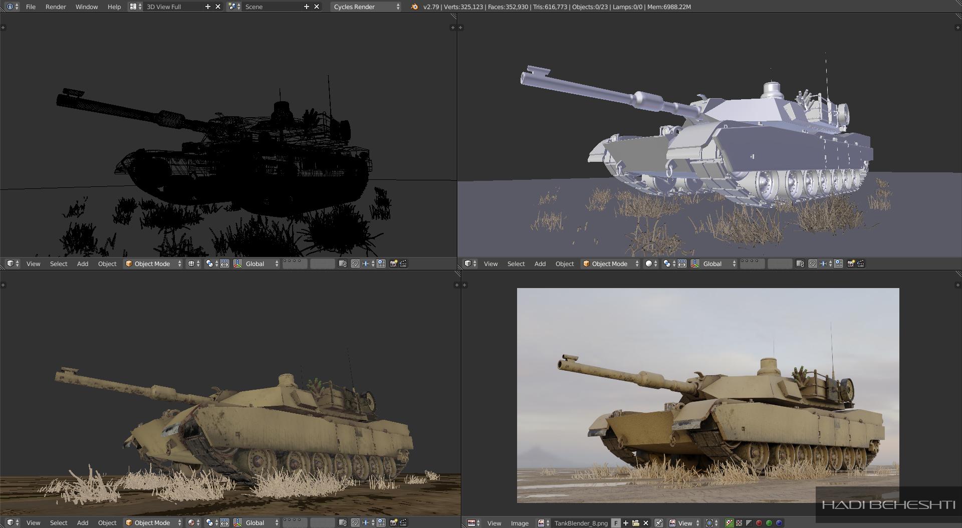 Tank Model by Hadi Beheshti PrintScreens_2