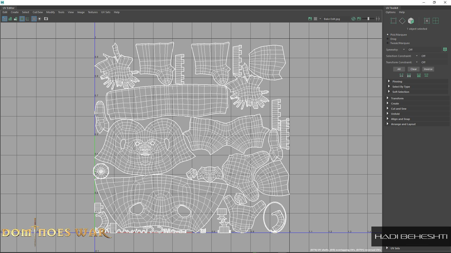 Dominoes War Game Character UV by Hadi Beheshti CG Artist