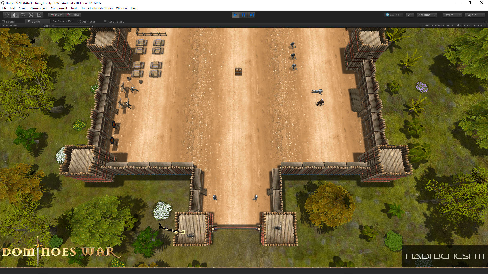Dominoes War Game Garrison Scene Hadi Beheshti CG Artist